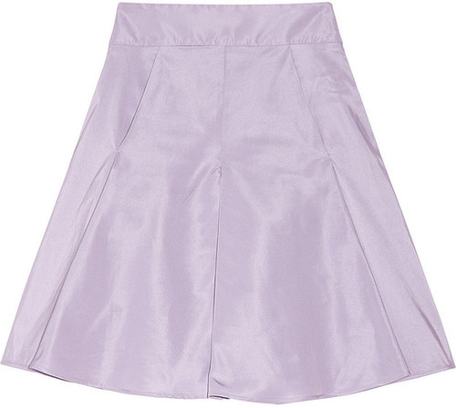 RED Valentino Flared taffeta-twill skirt