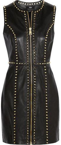 Versus Studded leather mini dress