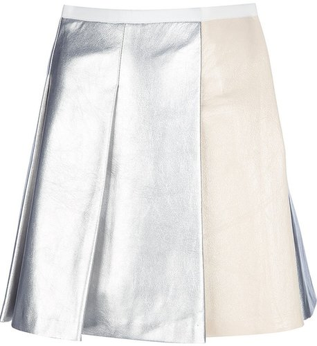 Sacai metallic skater skirt