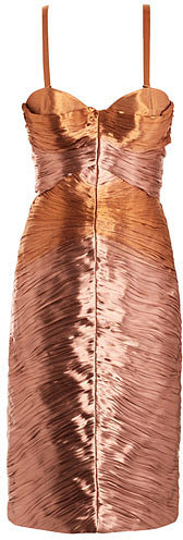 Burberry Prorsum Metallic lamé pleated bustier dress
