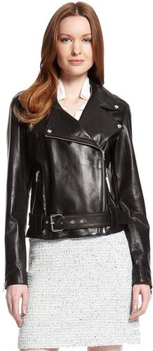 'Larine' | Leather Motorcycle Jacket by HUGO