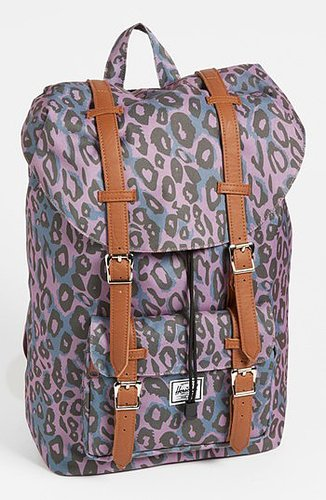 Herschel Supply Co. 'Little America' Backpack Purple Leopard