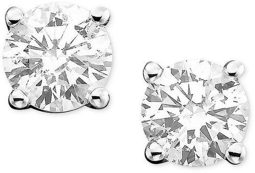 Macy's Diamond Earrings, 14k White Gold Diamond Stud Earrings (3/4 ct. t.w.)
