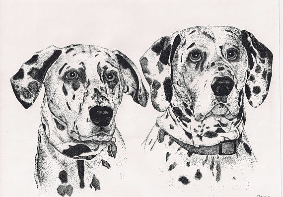 If black and white is more your palette of choice, this ink drawing ($75) would be a perfect choice.