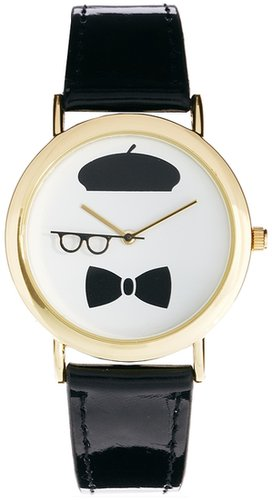 ASOS Beret Rotating Glasses Watch