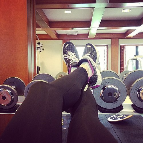 There's nothing small about Erika Christensen's strength-training sessions.