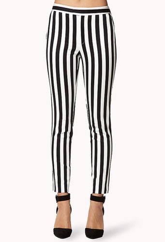 FOREVER 21 Bold Stripe Cigarette Pants