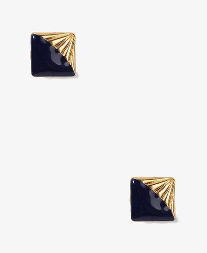 FOREVER 21 Lacquered Horizon Clip-On Earrings