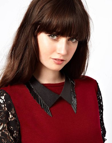 ASOS Leather & Bead Collar Necklace