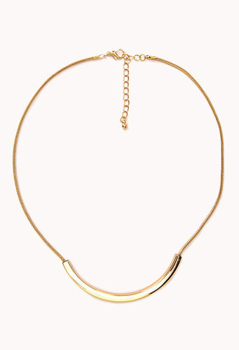 FOREVER 21 Curved Bar Necklace