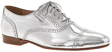 Mirror metallic oxfords