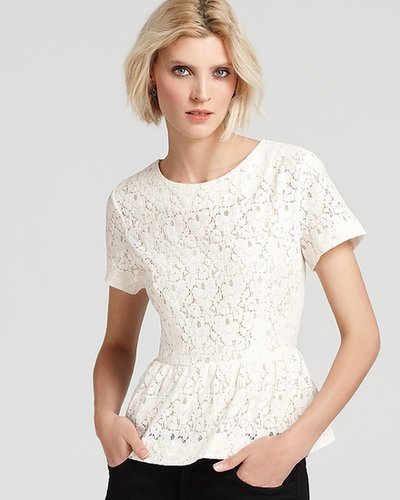 French Connection Top - Mykas Lace Peplum