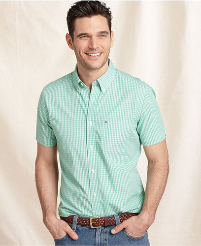 Tommy Hilfiger Shirt, Short Sleeve Slim Fit Campus Shirt