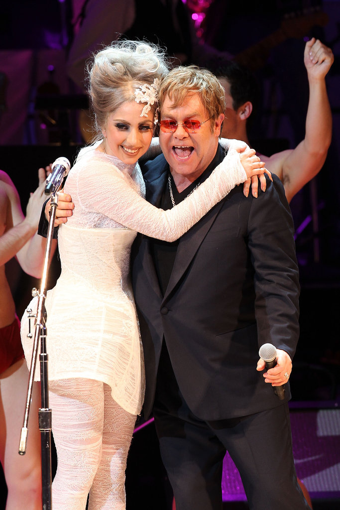 "When Elton John and his husband, David Furnish, welcomed their son Zachary in 2011, they asked Lady Gaga to act as his godmother. The couple confirmed the news in an interview with Barbara Walters, saying, ""When you get to the real person under there, there's a real simple person under there who loves her parents."" Gaga has clearly done a good job with the role, as Elton and David gave her the title for their second son, Elijah, who was born in April 2013. Elton John may be the ultimate godparent himself, as he's been bestowed with the title by 10 close friends including John Lennon, Elizabeth Hurley, and. . ."