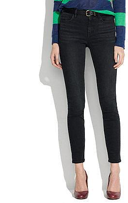 High riser skinny skinny ankle jeans in onyx wash