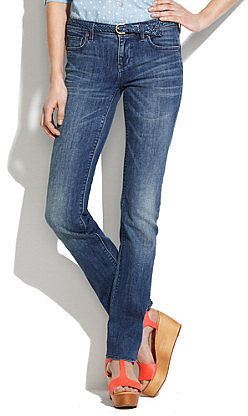 Rail straight jeans in dusty blue wash