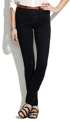 Skinny skinny high riser jeans in black frost wash