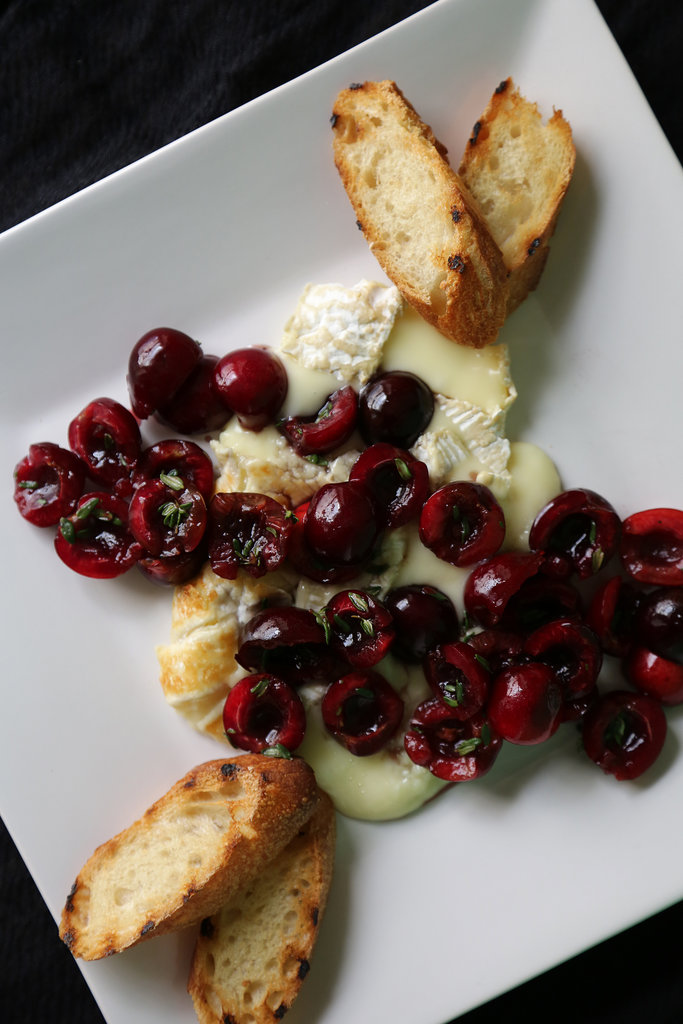 Grilled Brie With Cherry-Thyme Relish