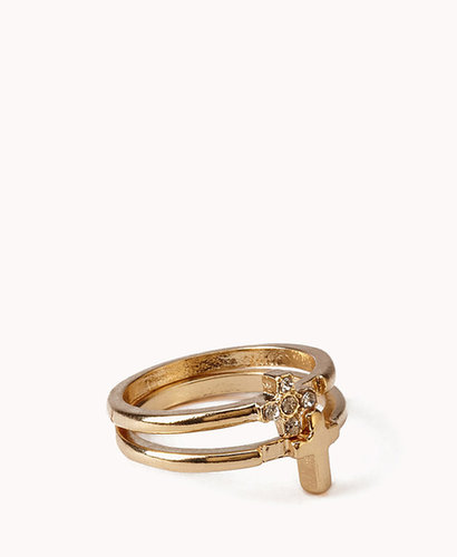 FOREVER 21 Stackable Cross Rings