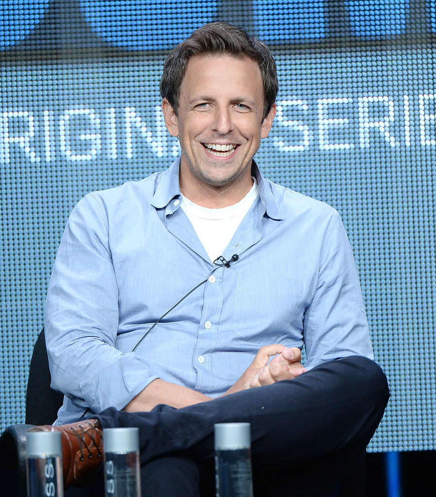 Seth Meyers participated in a panel discussion for The Awesomes at the Summer TCA Press Tour.