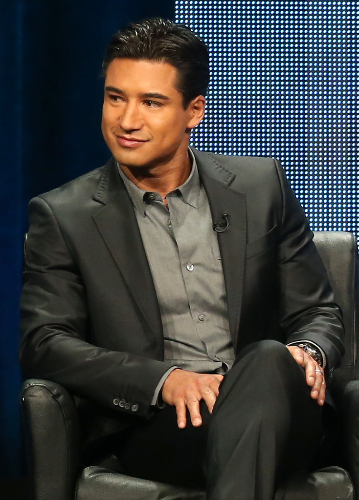 Mario Lopez was a guest at the Summer TCA Press Tour because of his role on The X-Factor.