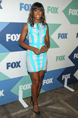Kelly Rowland wore an electric dress to the Fox All-Star Party for the Summer TCA Press Tour.