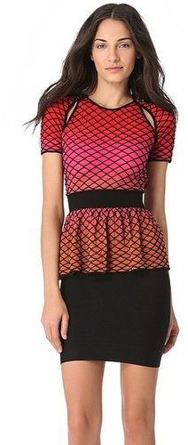 M missoni Horizon Peplum Open Back Top