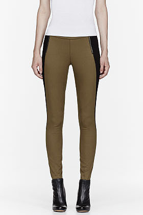 MARC BY MARC JACOBS Khaki colorblocked Allie Leggings