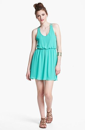 Lush Multi Strap Dress (Juniors) Pistachio X-Small