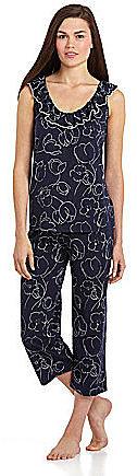 Lauren Ralph Lauren Saint Martin Knits Ruffle Front Capri Pajamas