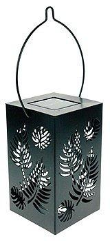 Blachère Lanterne solaire en métal noir