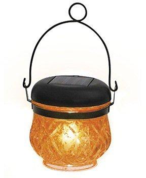 Blachère Lanterne solaire en verre orange