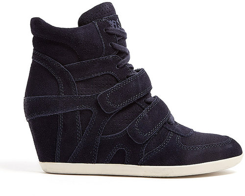 Ash Midnight Bea Suede Wedge Trainer