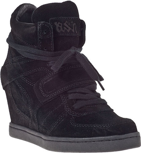 ASH Cool Wedge Sneaker Black Suede