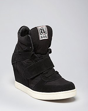 Ash Lace Up Wedge Sneakers - Cool