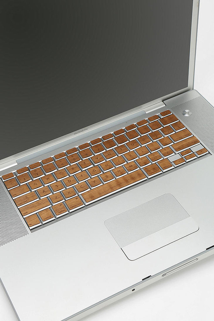 If you thought these wooden MacBook decals ($50) were fake, think again. Just peel to cover your keyboard with the real, laser-cut design.
