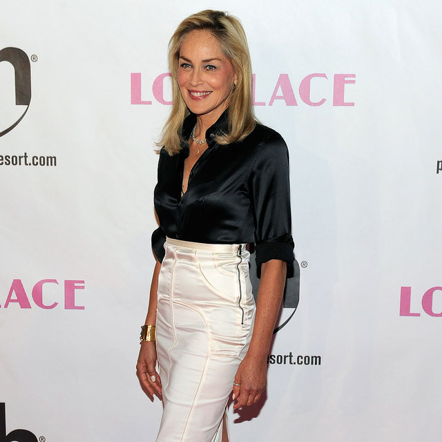 Amanda Seyfried and Sharon Stone on the Lovelace Red Carpet