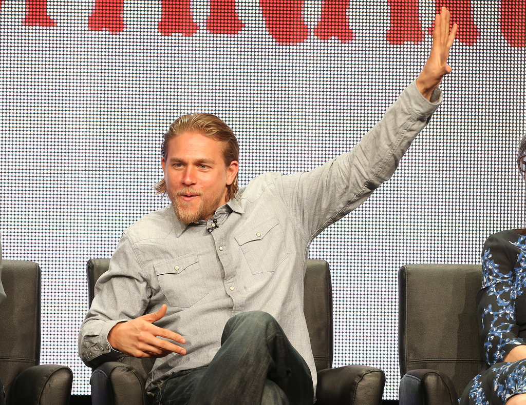 Charlie Hunnam was very expressive during the Sons of Anarchy portion of the Summer TCA Press Tour.