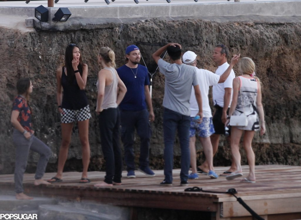 Leonardo DiCaprio and Toni Garrn hung out with friends in Ibiza.