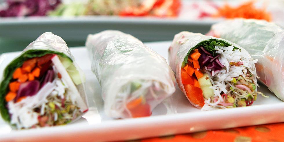 Taste the Rainbow: Veggie-Filled Spring Rolls