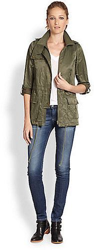 Joie Barker Hooded Military Jacket