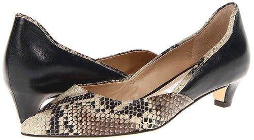 Diane Von Furstenberg - Alice (Natural Roccia Snake Print/Black Nappa) - Footwear