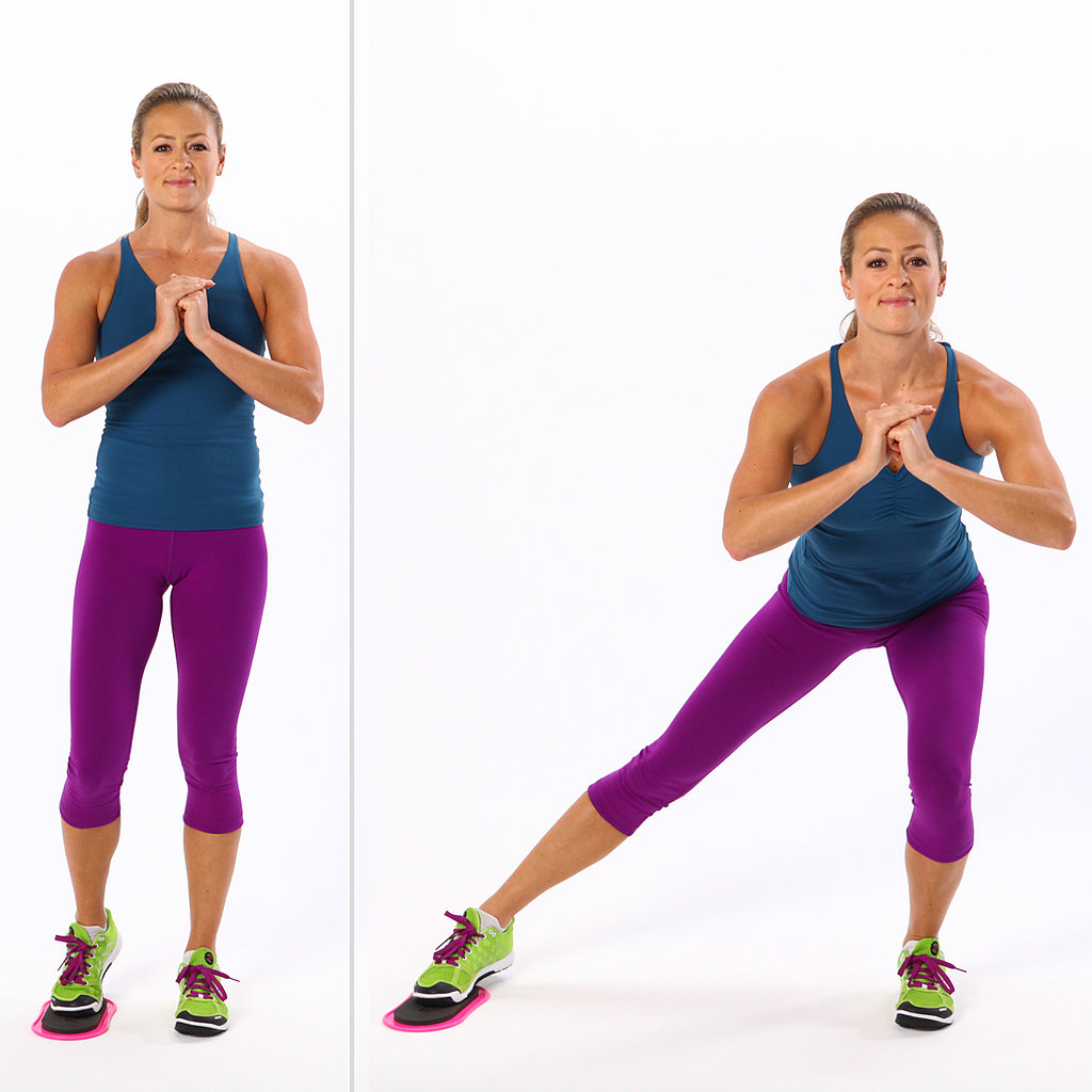 Glider Side Lunge All Time Best Inner Thigh Exercises