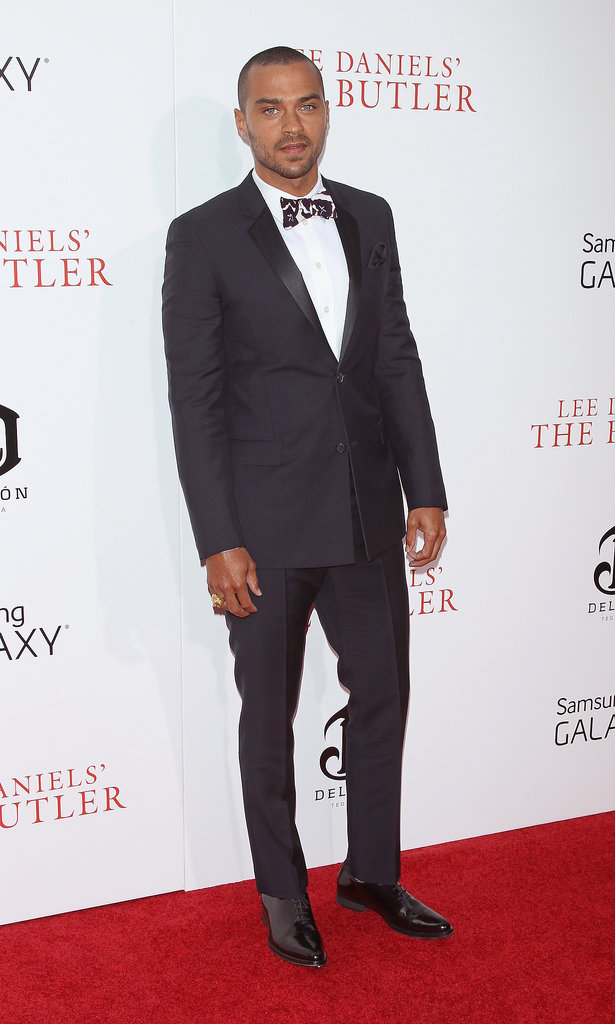 Jesse Williams wore a bow tie on the red carpet.