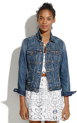 The jean jacket in storm cloud wash
