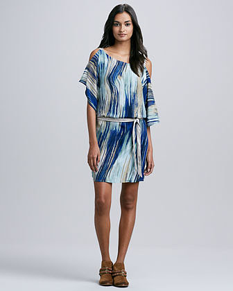 SW3 Bespoke Whitney Brushstroke-Print Dress