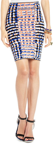 Emery Ikat Jacquard Pencil Skirt