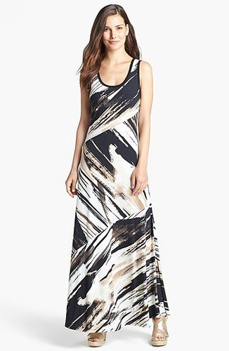 Calvin Klein Bias Cut Maxi Dress