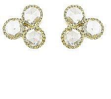 Sethi Couture Triple Rose Cut Diamond Studs - Yellow Gold