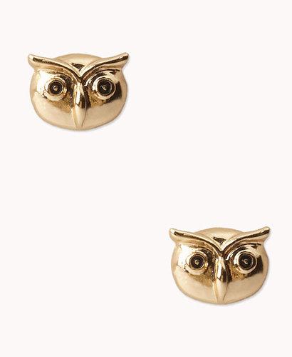FOREVER 21 Owl Studs
